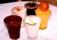 granite di gelsi, mandorla bianca, mandarino, caffè e limone
